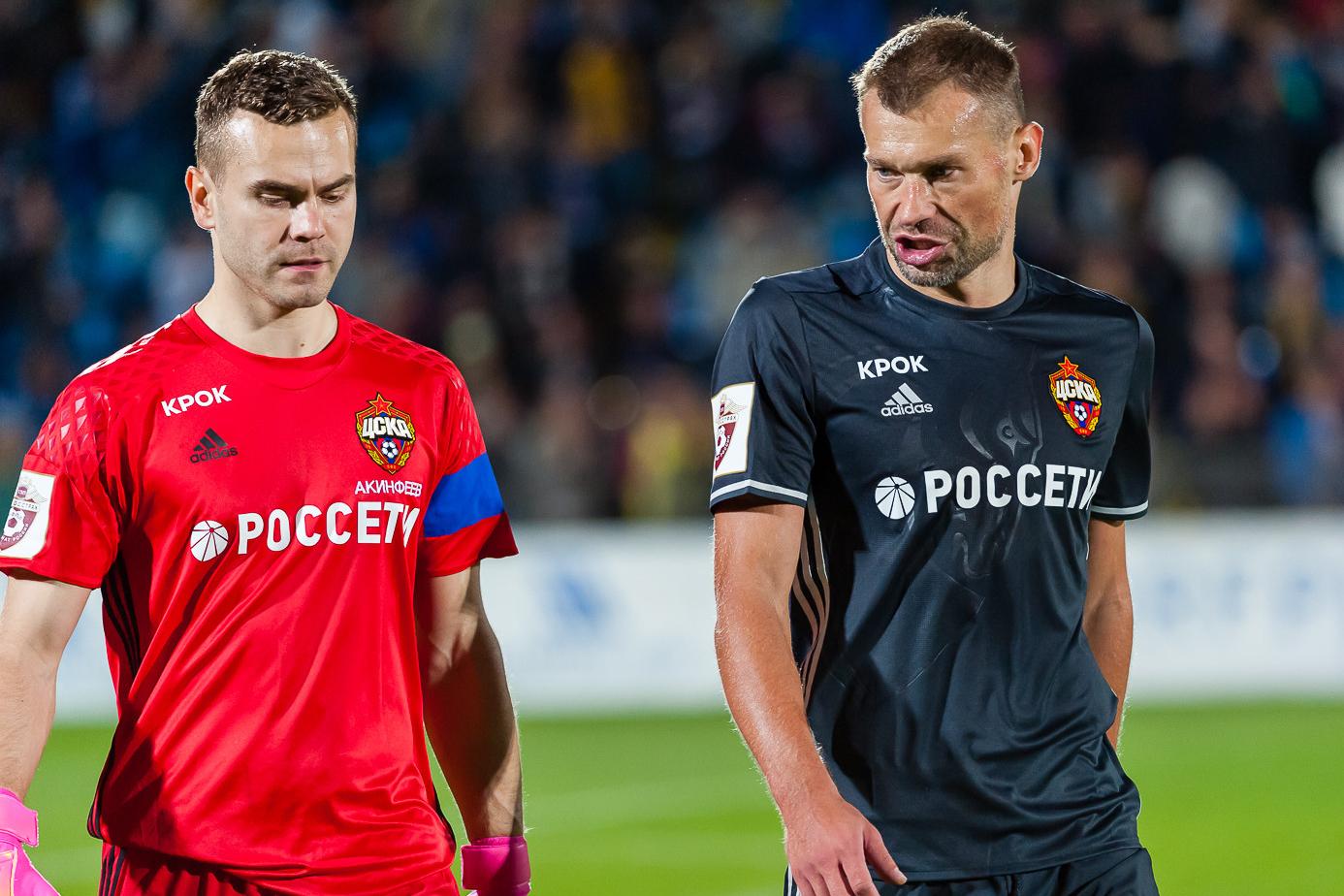 Игорь Акинфеев и Василий Березуцкий