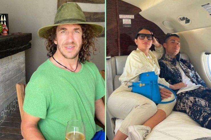 Пуйоль с лопатой, Роналду — с Джорджиной в собственном самолёте. Лучшее из Сети