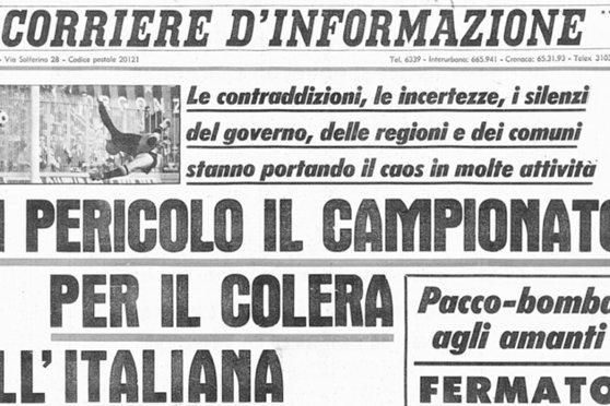 Холера в Италии