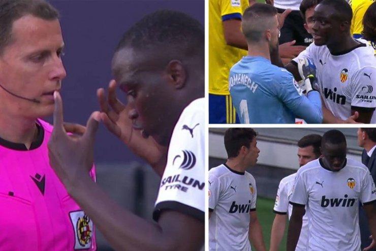 Диахаби объявил себя жертвой расизма. Футболиста «Валенсии» назвали «Negro di mierda», матч был прерван на 25 минут