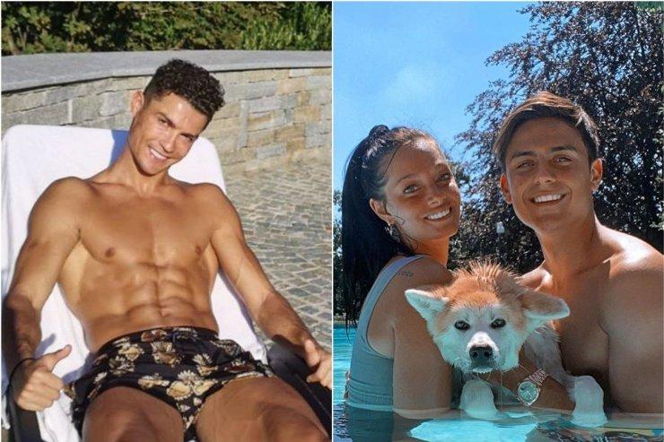 Лучшее из соцсетей: Роналду похвастался фигурой, Дибала искупался со своей собакой