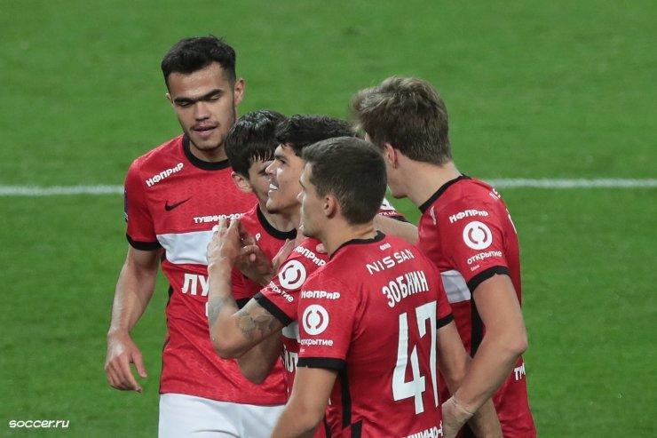 «Спартак» обыграл «Рубин» со счетом 2:0
