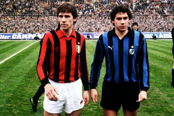 Защитники «Милана» и «Интера» братья Барези