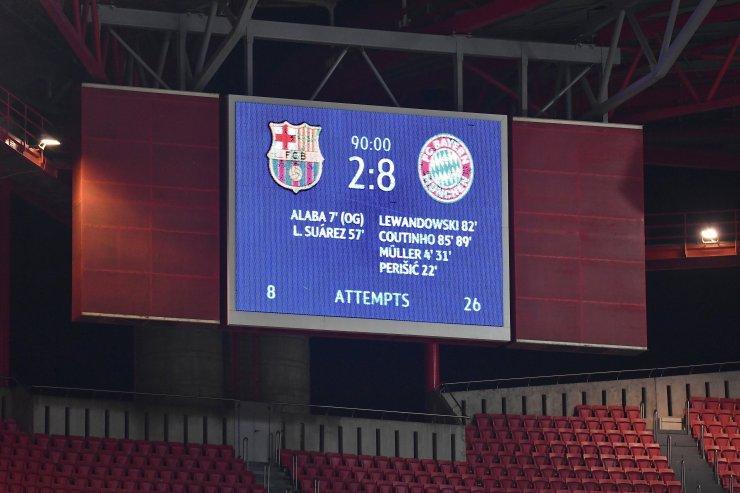 Счет на табло в матче «Барселона» - «Бавария»