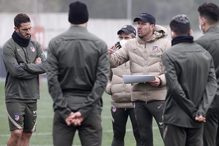 Симеоне и игроки «Атлетико»