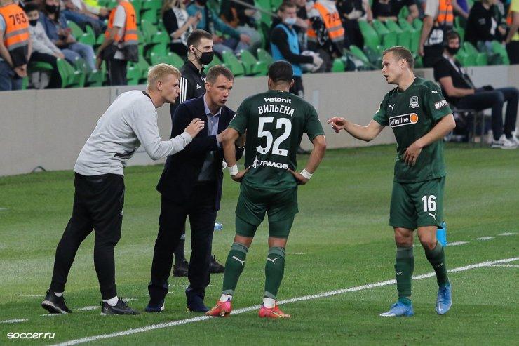 Ганчаренко с игроками