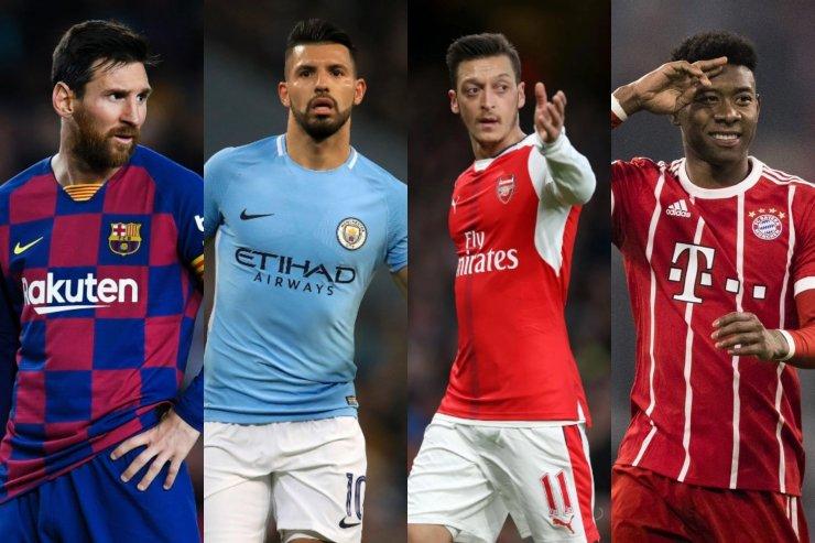 Месси, Агуэро, Озил и Алаба в топ-10 свободных агентов 2021 года