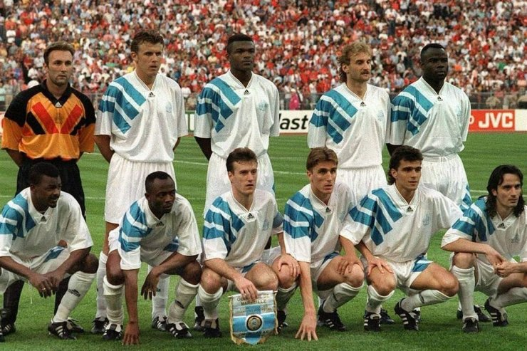 Футболисты «Марселя» в 1993 году