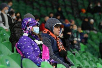 «Добро пожаловать в ад». «Быки» не смогли оправдать надпись на экране в матче с «Уралом» (фото)