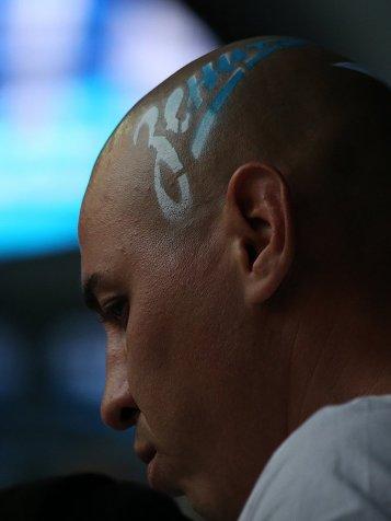 Бенефис Дзюбы, логотип «Зенита» на голове фаната. «Сине-бело-голубые» разгромили «Уфу»