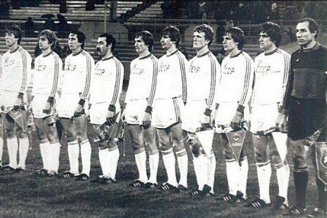 Олимпийская сборная СССР перед матчем с Болгарией
