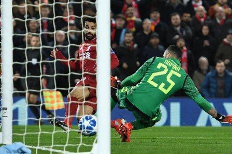 Мохамед Салах в матче против