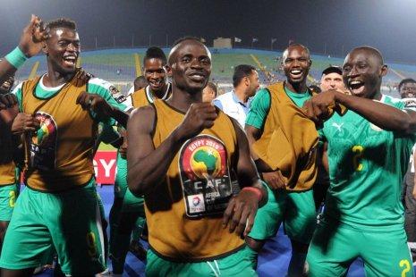 Сборная Сенегала после матча с Тунисом