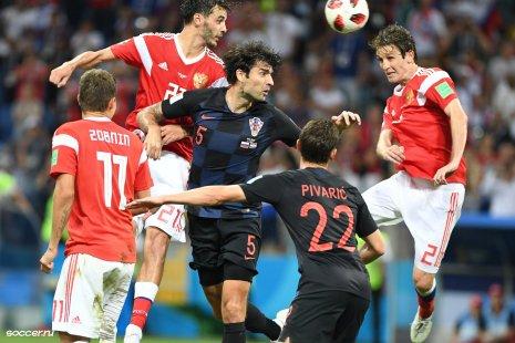 Сборные России и Хорватии