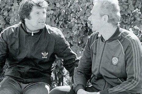 Эдуард Малофеев и Валерий Лобановский