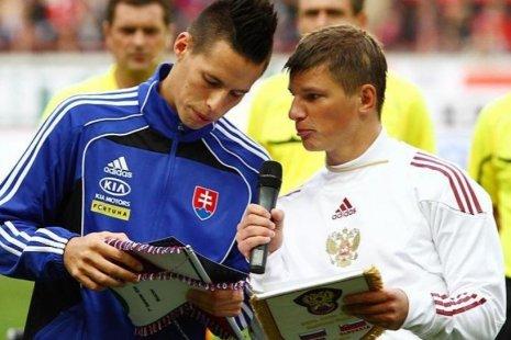 Гамшик и Аршавин в 2010 году