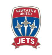 Логотип футбольный клуб Ньюкасл Джетс