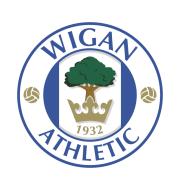 Логотип футбольный клуб Уиган Атлетик