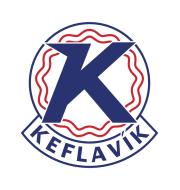 Логотип футбольный клуб Кефлавик (Рейкьянесбар)
